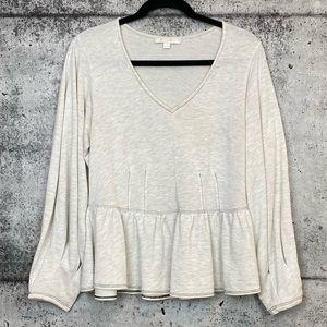 Anthropologie // Eri & Ali // Peplum Sweater